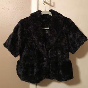 kersh Jackets & Blazers - !Black faux fur jacket!  Mark Down