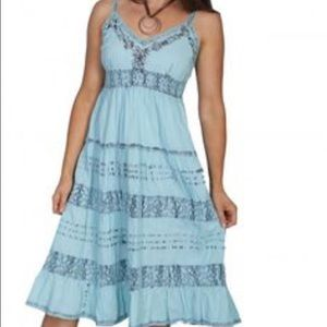 Scully Dresses & Skirts - Lighter blue with dark blue distressed trim