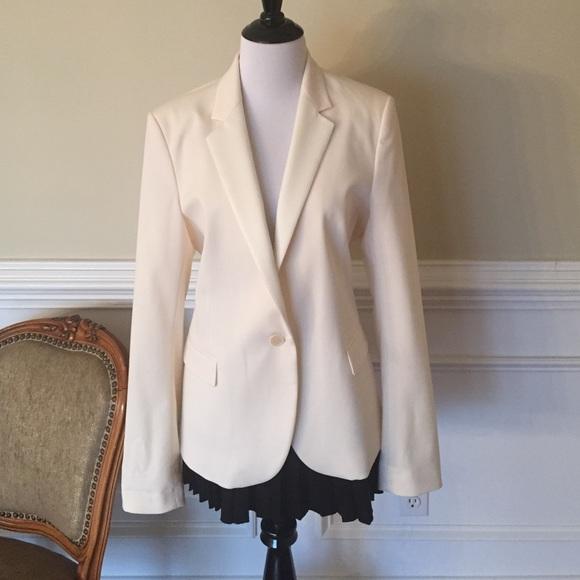 8b6d2dfea234 Theory cream tuxedo jacket! M 5842ca2f4127d09636028762