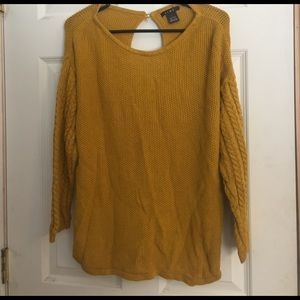 Link Sweaters - LINK Sweater Size Large Cable Knit Sleeves