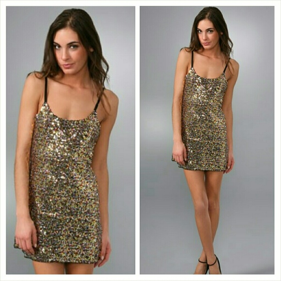 d63e82f097 NWT Free People Intimately Sequins Slip Dress
