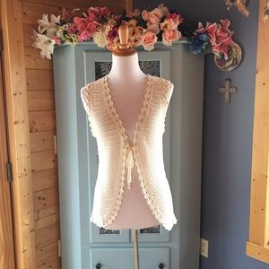 HAND Crocheted Vest. So Pretty!!