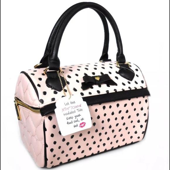 22 Off Betsey Johnson Handbags Pink B Mine Speedy Lunch
