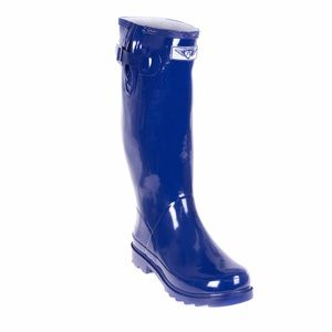 """forever young Shoes - Women's Blue 14"""" Rubber Rainboots RB-3106"""