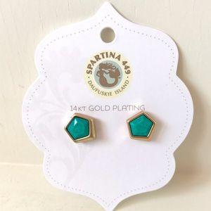 Spartina 449 Jewelry - Spartina 449 Turquoise & Gold Studs - NWT!
