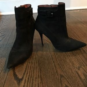 Elizabeth and James black suede bootie