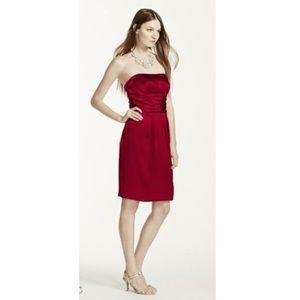 David's Bridal Dresses & Skirts - Apple Red Strapless Dress