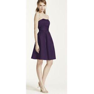 David's Bridal Dresses & Skirts - Strapless Plum Dress Lapis