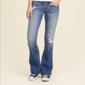 Hollister distressed flare
