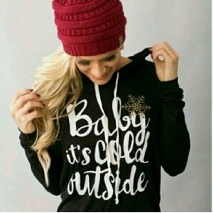 Sale! << Baby Its Cold Outside Lightweight Hoodie