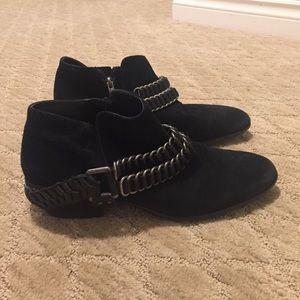 Sam Edelman Suede Booties in Black