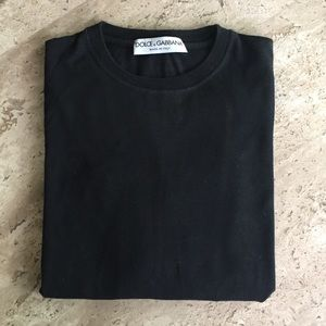 Dolce and Gabbana black long sleeve t
