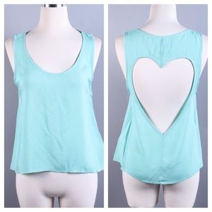 Tops - Heart Cut Out Tank