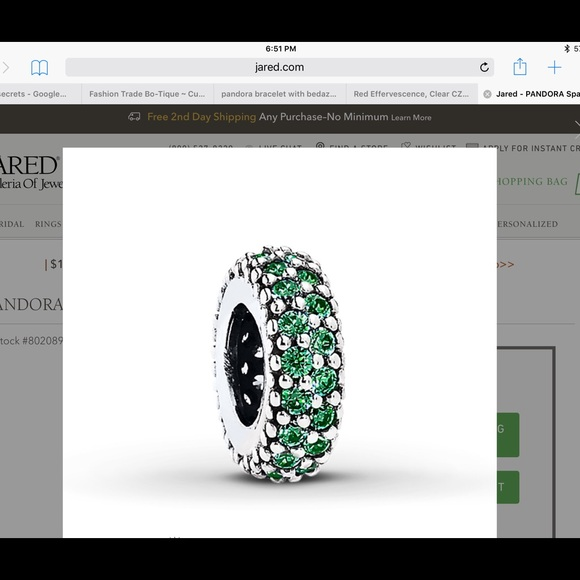 37 off Pandora Jewelry Pandora inspiration Within Green Spacer