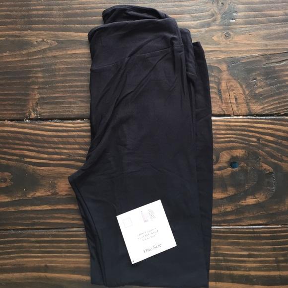 dd45417585c369 LuLaRoe Pants | Solid Black Os Leggings | Poshmark