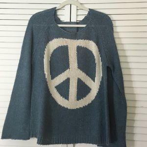 Wildfox White Label peace sweater