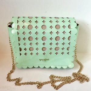 Spartina 449 Handbags - Spartina Seafoam PatentLeather Crossbody