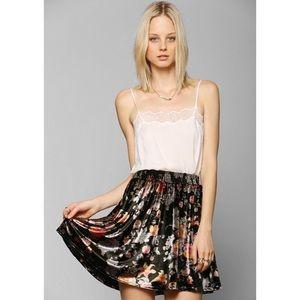 Ecoté Velvet Floral Print Skirt