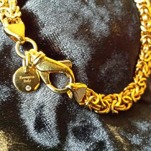 Romanza Italy Jewelry Romanza Gold Chain Bracelet Poshmark
