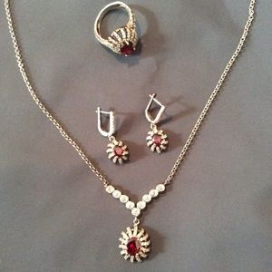 Jewelry - SALE 🔥🔥🔥🔥Jewelry Set⚜️Silver and Ruby