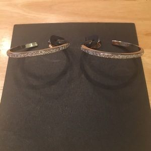 Banana Republic Crystal Hoop Earrings