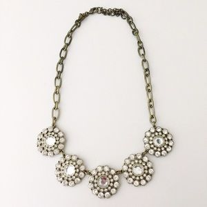 J. Crew Factory Jewelry - J.Crew Factory crystal layered circle necklace