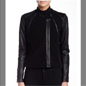 Vince Leather Point Jacket
