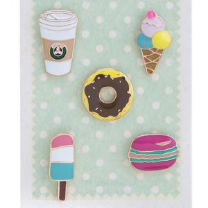 |new| Cute Coffee & Dessert Pin Set