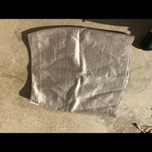Silver/gold pencil skirt
