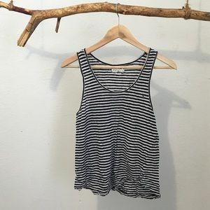 Velvet Tops - 'Velvet' Striped Linen Tank
