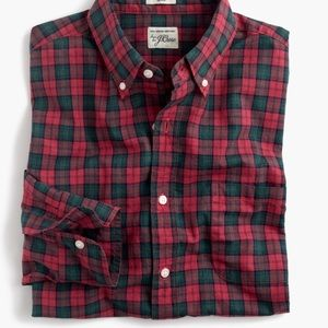 Red & Navy Gingham Button Down