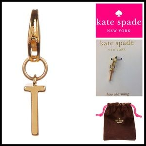 kate spade Jewelry - ❗1-HOUR SALE❗KATE SPADE Charm 'T' Gold Plated