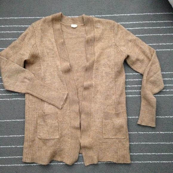 J. Crew Factory Sweaters - ⬇ J Crew- brown open wool alpaca cardigan 2e127c155