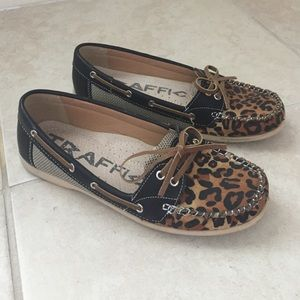traffic Shoes - Leopard Boat Shoes