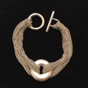 Tiffany & Co. Silver Mesh Multi-Strand Bracelet