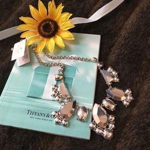 Kate Spade urban chic silver bib necklace