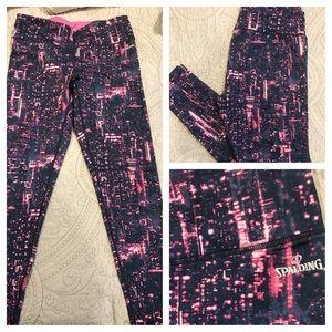 Spalding Pants - NWOT Spalding Pink and Blue Galaxy Leggings