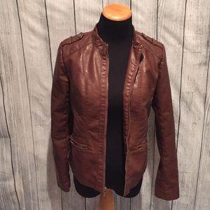 exhilaration Jackets & Blazers - 🔖Exhilaration Leather Jacket