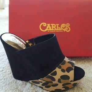 Carlos Santana Shoes - Carlos Santana peeptoe wedges *NEW*