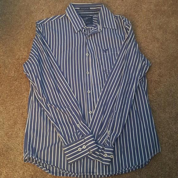 a2fc25dc53e754 Shirts | Mens Navy Blue And White Striped Button Down | Poshmark
