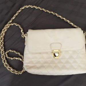 Quilted white crossbody