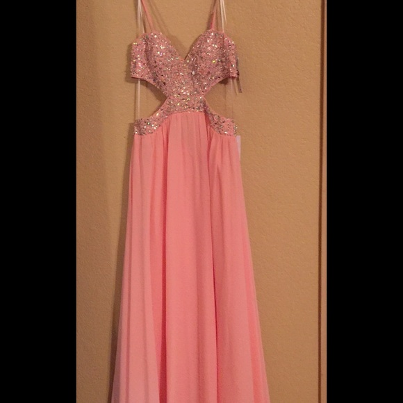 Decode 18 Dresses Blush Colored Backless Long Evening Gown Poshmark