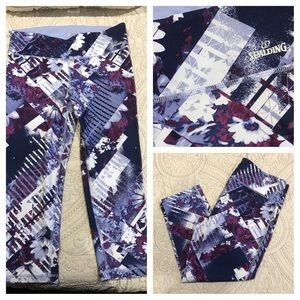 Spalding Pants - NWOT Spalding Floral Media Mix Capri