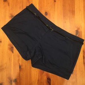 Navy Blue Shorts with Belt