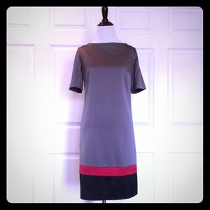 Abaete Dresses & Skirts - Silvery Silk color block dress.