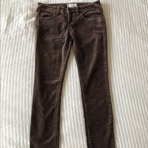 Brown Free People velvet pants size 25