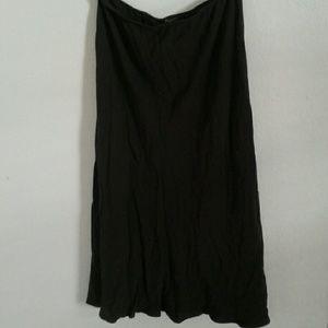 Eileen Fisher Silk Georgette Crepe Skirt