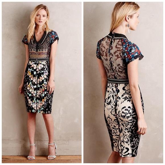 ce1647cd4b59 Anthropologie Dresses | Hp Byron Lars Margot Pencil Dress | Poshmark