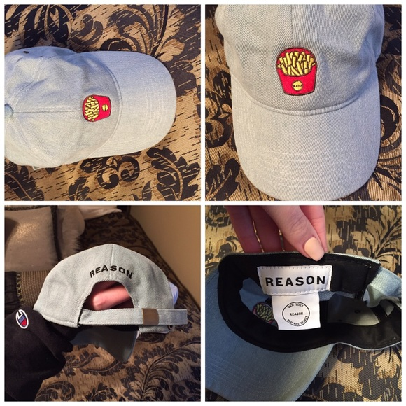 French fries baseball hat by reason. M 5843354f981829bc3e03eaae 31be8a6ad9f9