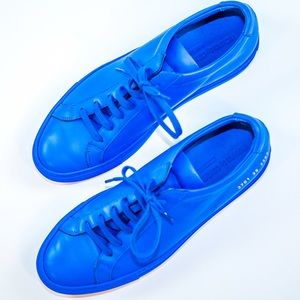 Common Projects Shoes - Common Projects Achilles Low Blue Sneakers